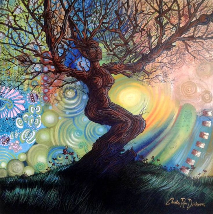 Saatchi Artist Cherie Roe Dirksen; 'Celebration' $840 (incl. shipping)  #treeoflife #art #painting #color #colorful #trees