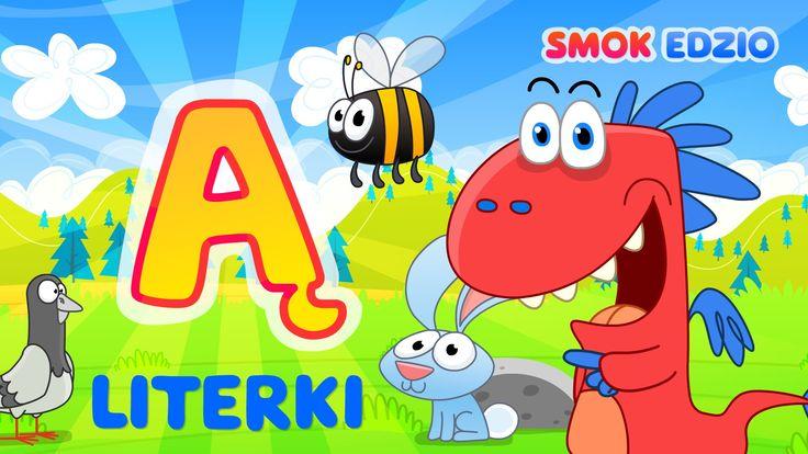 Nauka literek dla dzieci ze Smokiem Edziem - litera Ą - literki dla dzi...