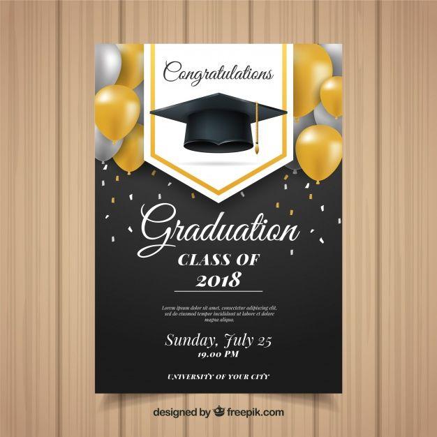Download Classic Graduation Invitation Template With Realistic Design For Free Graduation Invitations Template Graduation Invitation Design Graduation Invitations