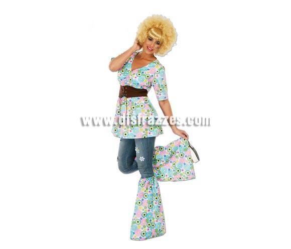 Camisa hippie de mujer para carnaval disfrazzes tienda for Disfraz de hippie