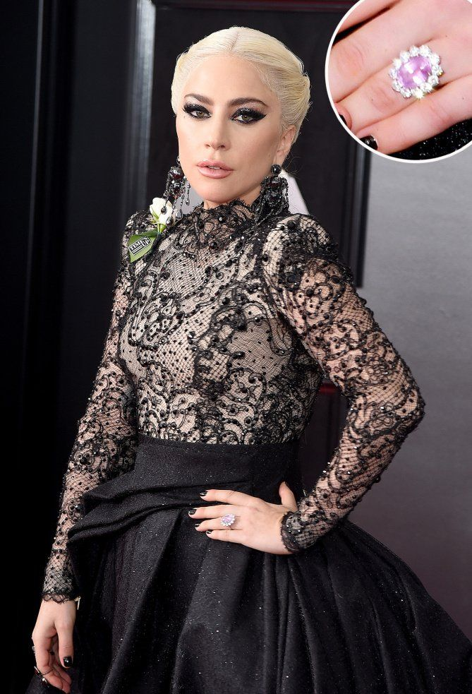 4983f1945b See every photo of Lady Gaga wearing her (rumored) pink diamond engagement  ring!