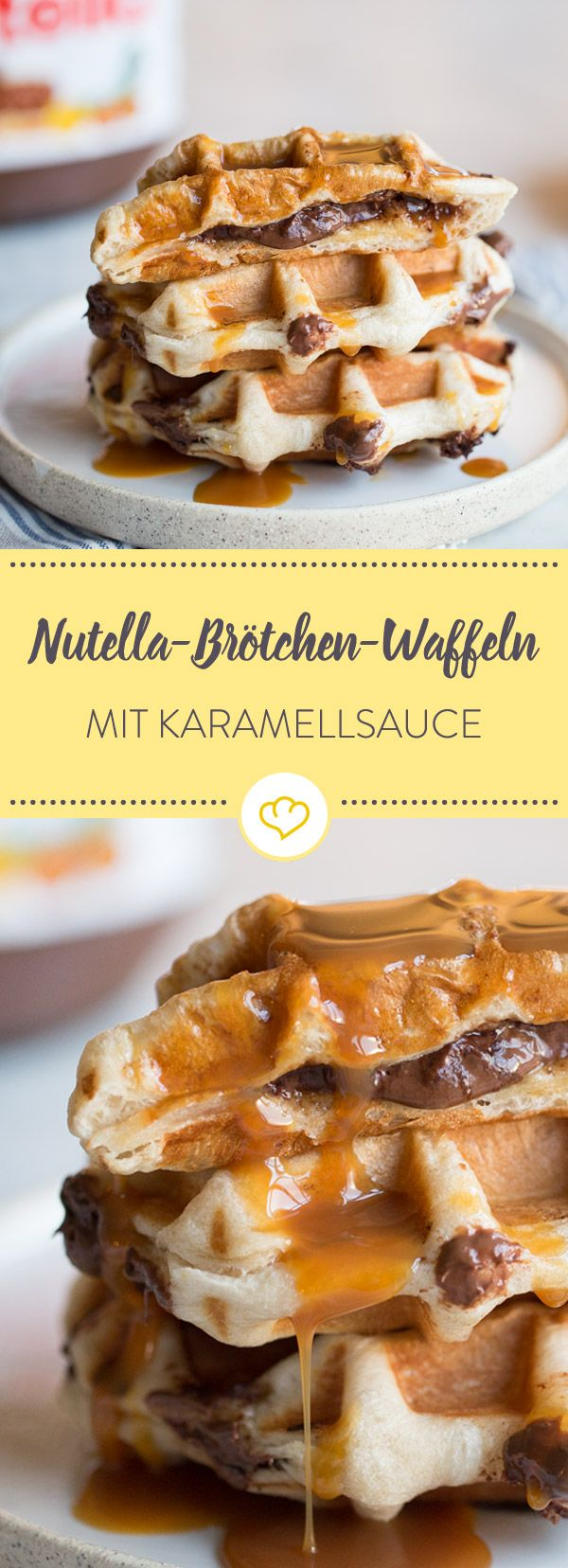 Frühstück aus dem heißen Eisen: Nutellabrötchen-Waffeln – Linda