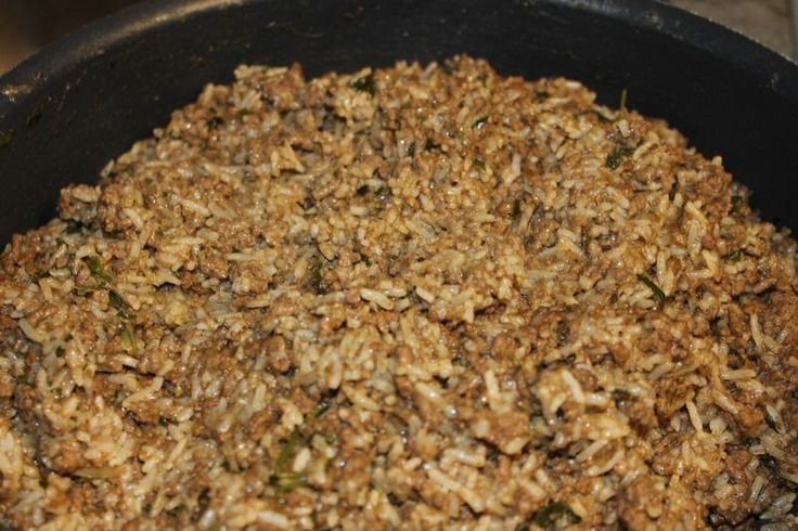 This is one of our favorite rice dressing (also known as dirty rice) recipes. Add this to a meatball stew and talk about good!