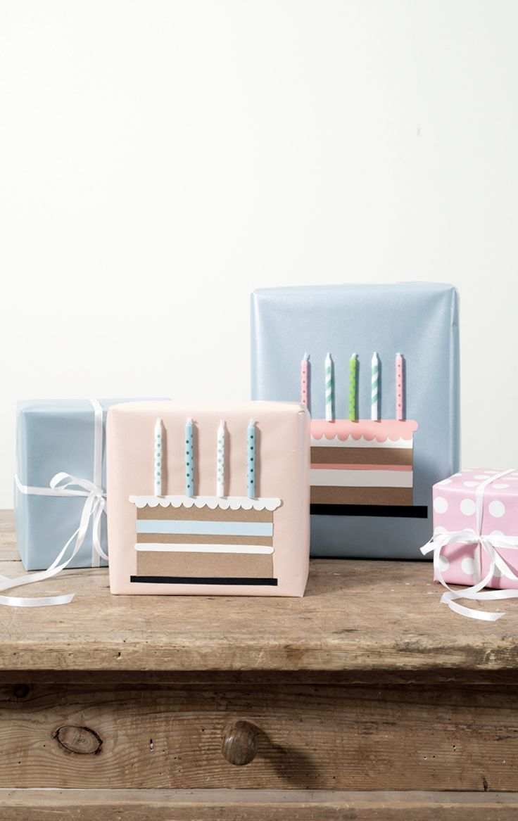 DIY – Gift wrapping idea for birthdays