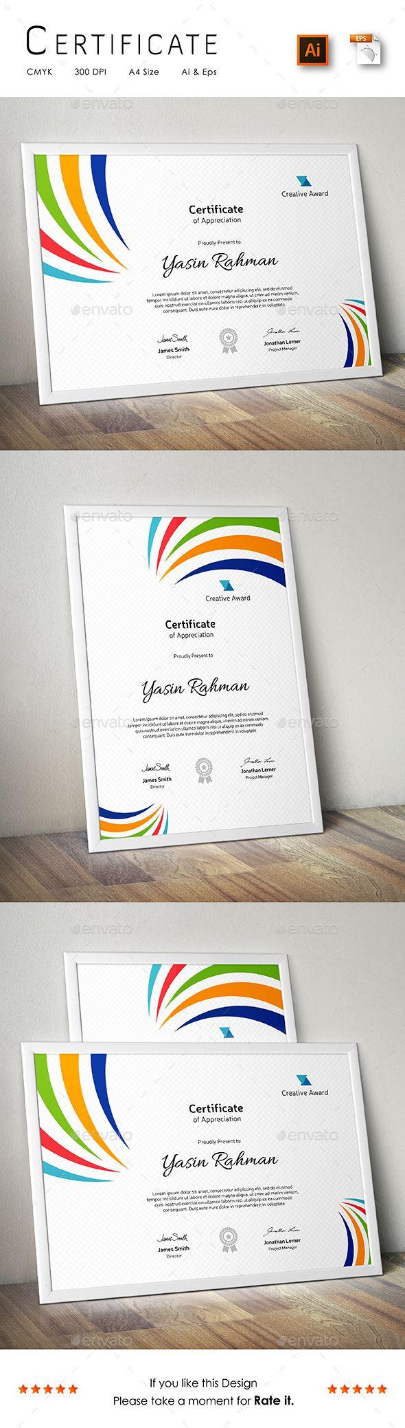 56 besten certificate Bilder auf Pinterest | Zertifikatvorlagen ...