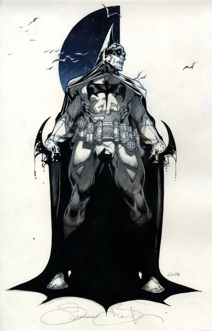 Batman commission SDCC 2014 by simonebianchi.deviantart.com on @DeviantArt