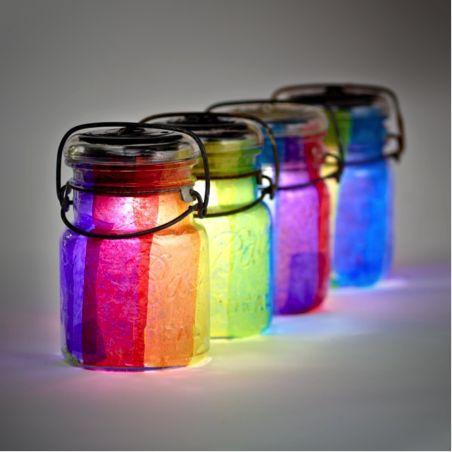 Maximum Living Solar Mason Jar Lanterns