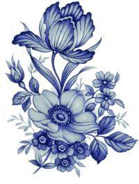 BLUE DRESDEN Decal