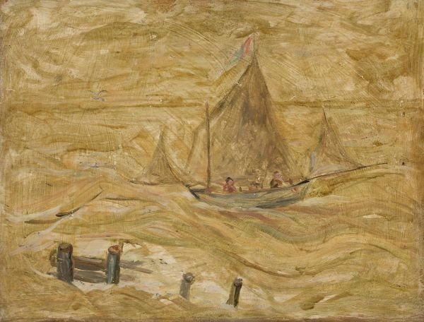 Żaglówka na morzu - Tadeusz Makowski