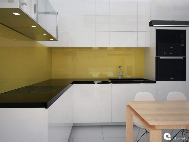 RoomReveal - Modern kitchen - Private apartment Cracow by Barbara Kamińska http://altrostudio.com.pl