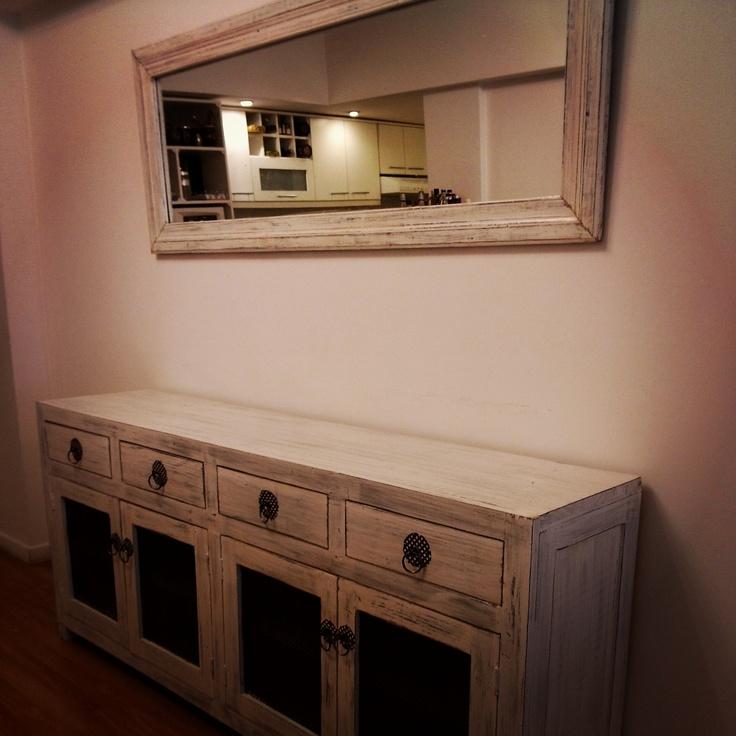 Vajillero y espejo home pinterest muebles de - Aparadores con espejo ...