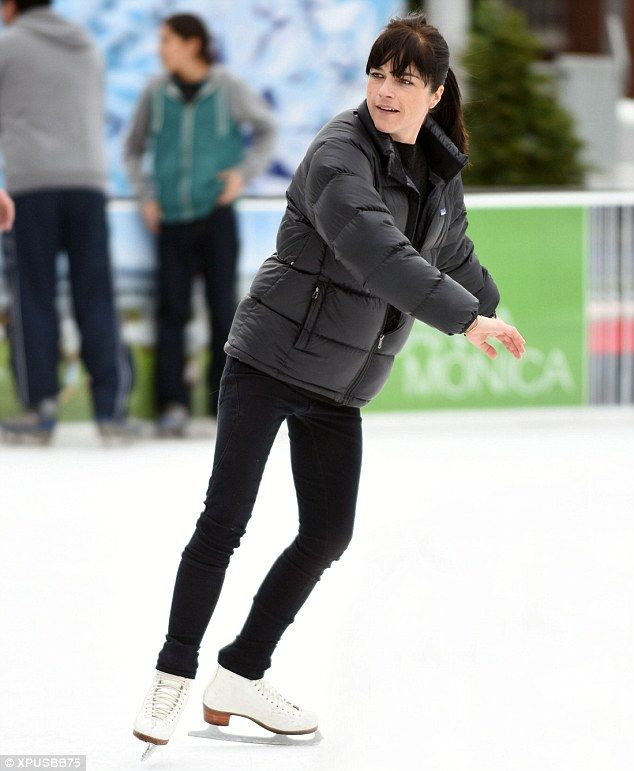 Queen of the rink: On Saturday, Selma Blair, 43, showcased her ice skating skills while ou...