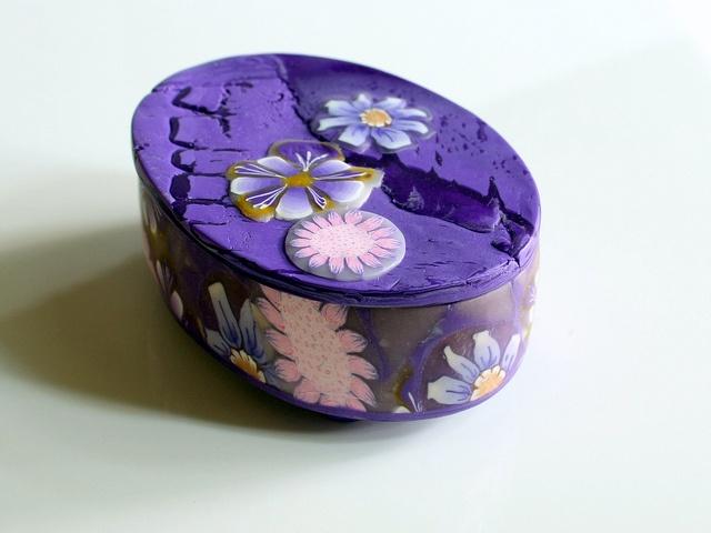 .: Clay Keepsake, Clay Boxes, Collector Boxes, Polymer Clay, Photo