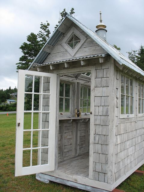 2410 best garden sheds images on pinterest for Shed roof cottage