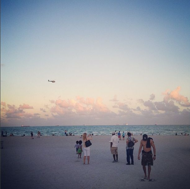 How beautiful to get out of a day of looking at art and see this! #abmb #art #untitled #beach #miami