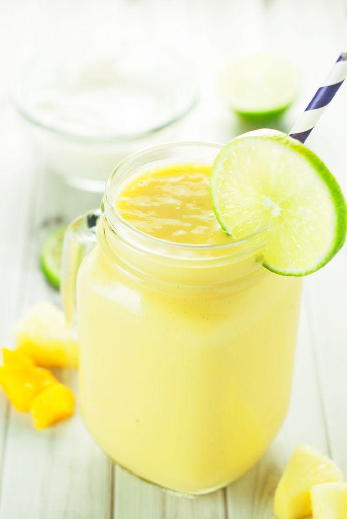 Tropical Smoothie Recipe | asimplepantry.com