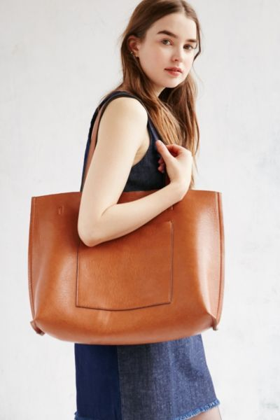 Reversible Vegan Leather Tote Bag - Urban Outfitters