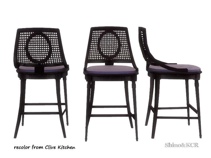 ShinoKCR's Dining Eboni - Barstool recolor darkwood