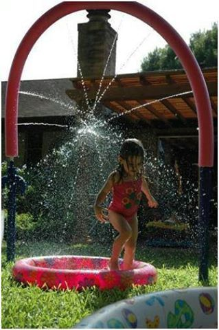 Create your own water park and other Creative Summer Activities for Kids at Home - MyNaturalFamily.com #activities #summer