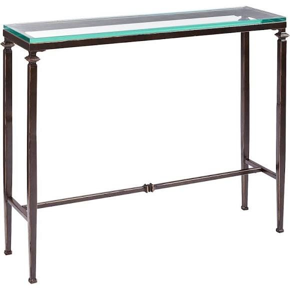 Lincoln Glass Top Console Table