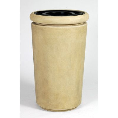 Allied Molded Products Trash and Ash Tuscan 26-Gal Industrial Trash Bin Color: Anastasia Emerald