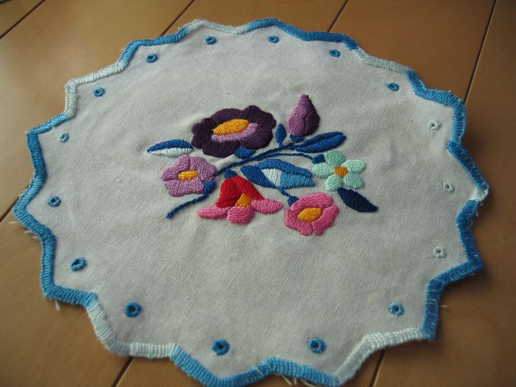 Doily  with Hungarian embroidery