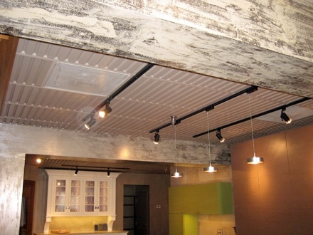 Drop Ceiling Alternative More Looking I Like The Lights Too Decorating Dropped Tiles Bat Insulation