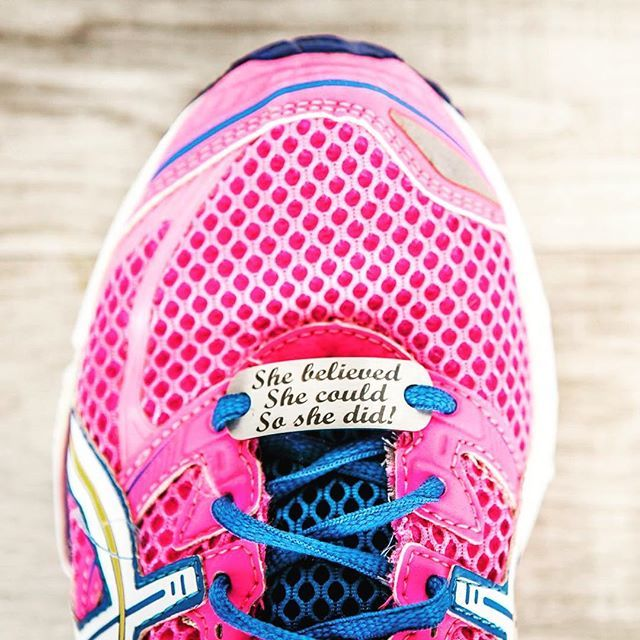 SA Medal Hangers' latest product #shoelacetags #motivation #shebelieved