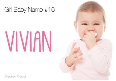 baby girl names vivian