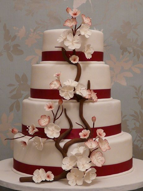 Cute Personalized Wedding Cake Toppers Thick Cheap Wedding Cakes Solid Square Wedding Cakes 5 Tier Wedding Cake Young Best Wedding Cake Recipe PurpleWedding Cake Cutter 138 Best Cherry Blossom Cakes Images On Pinterest   Cherry Blossom ..