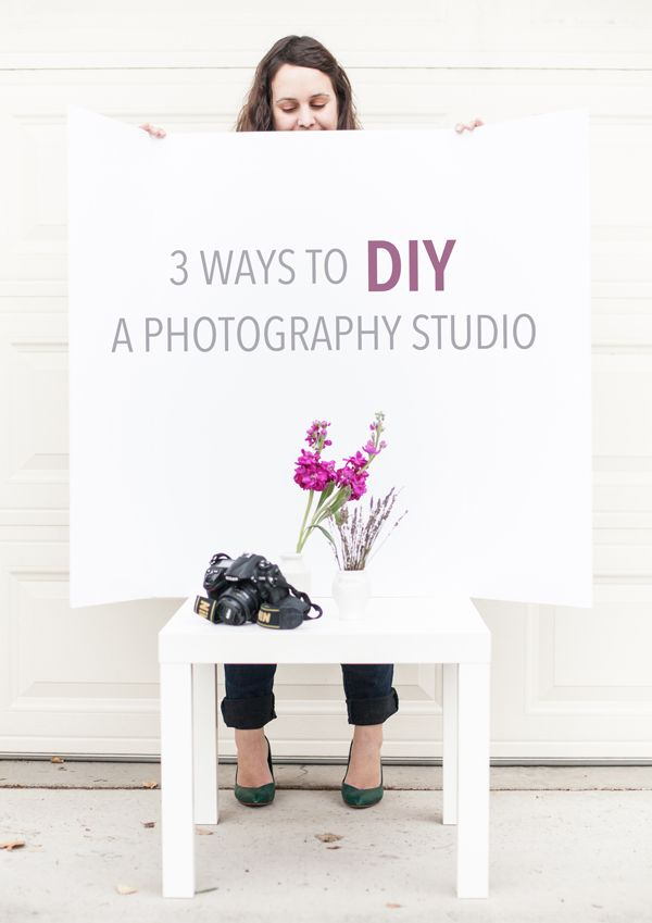 3 ways to DIY a photography studio at home!