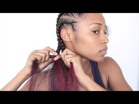 Easy Feed-in Cornrows with Kanekalon Hair [Video] - https://community.blackhairinformation.com/video-gallery/braids-and-twists-videos/easy-feed-cornrows-kanekalon-hair-video/