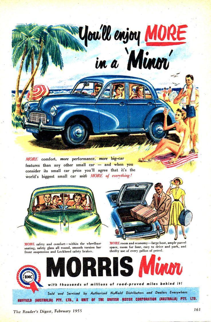 https://flic.kr/p/EFZStN   '55 Morris Minor 1000 BMC Aussie Original Magazine Advertisement
