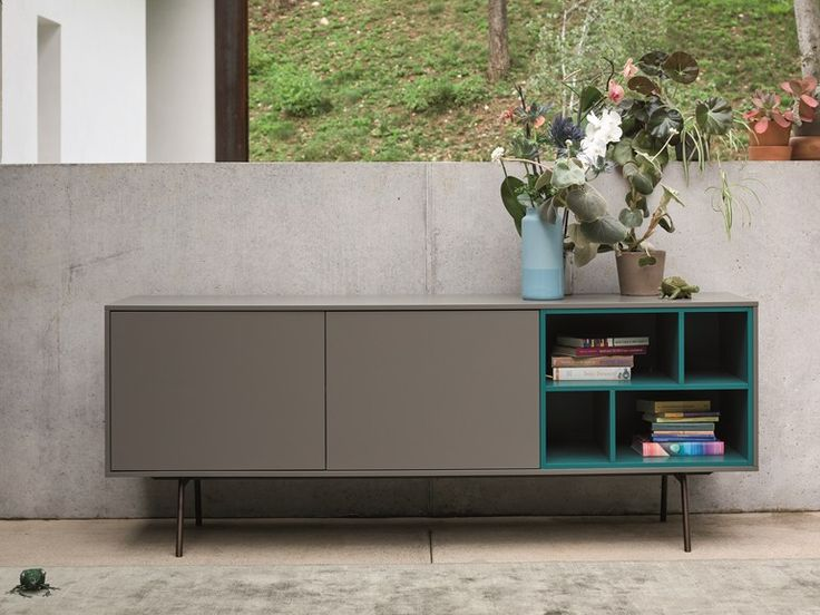 Download the catalogue and request prices of Code | sideboard with doors by Dall'agnese, modular wooden sideboard with doors design Massimo Rosa, R&S Dall'Agnese, Code collection