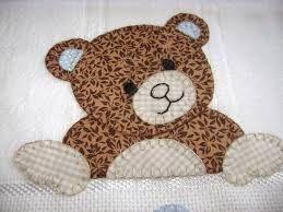 Resultado de imagem para patchwork passo a passo moldes barrados de fraldas ursinhos