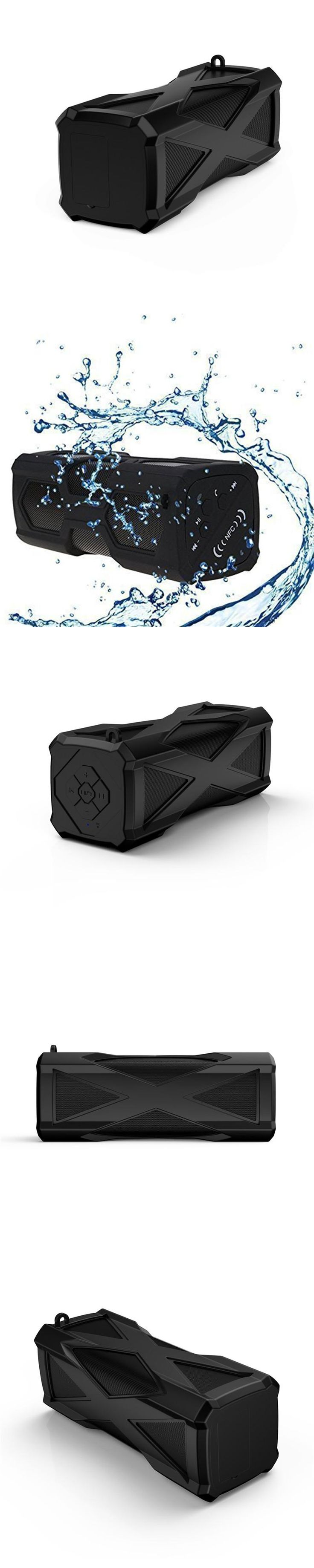 Avanshare wireless outdoor Waterproof Sport bluetooth Stereo speaker with Super Bass support MIC DC out 4000mah power bank