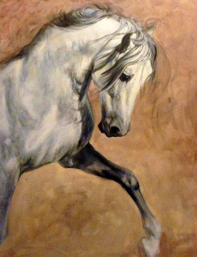 Arab Horse Paintings - Judi Kent Pyrah Equestrian Artist #art #equine #horse