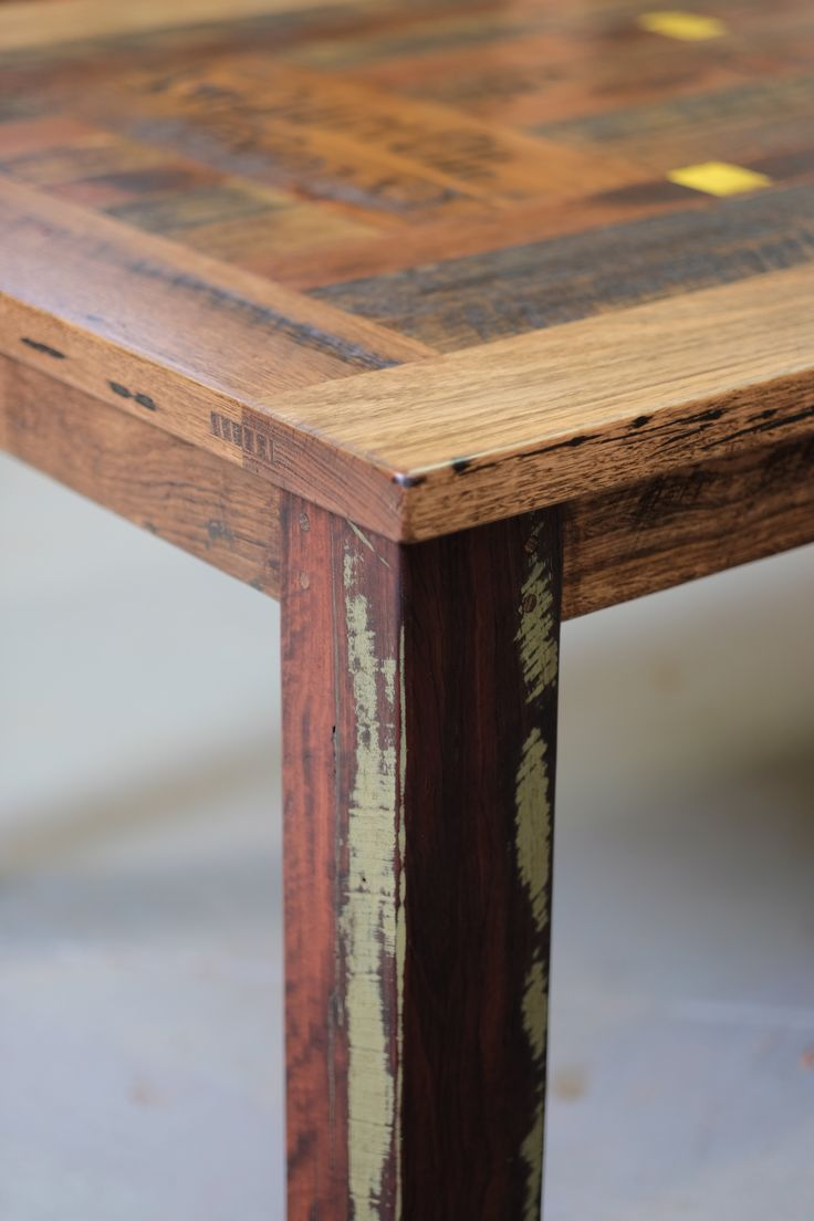 recycled timber table texture