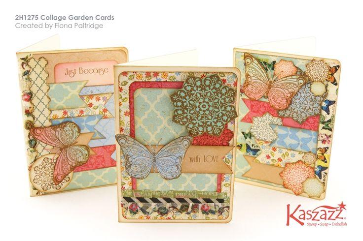 2H1275 Collage Garden Cards