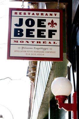 Joe Beef.  2491 Rue Notre-Dame Quest  Montreal, QC H3J 1N6