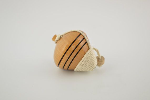 Wooden spinning top 9cm/3.5inches by CraftsAndMetal on Etsy