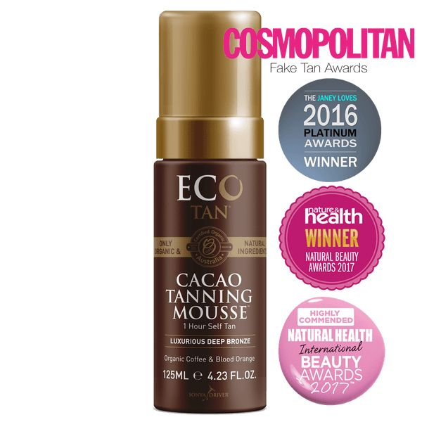 Eco Tan Cacao Tanning Mousse | $40 (Lasts 5-6 days. Recommended)