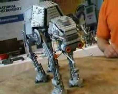 Lego NXT AT-AT - Star Wars meet Lego like never before!  Cool robotics!