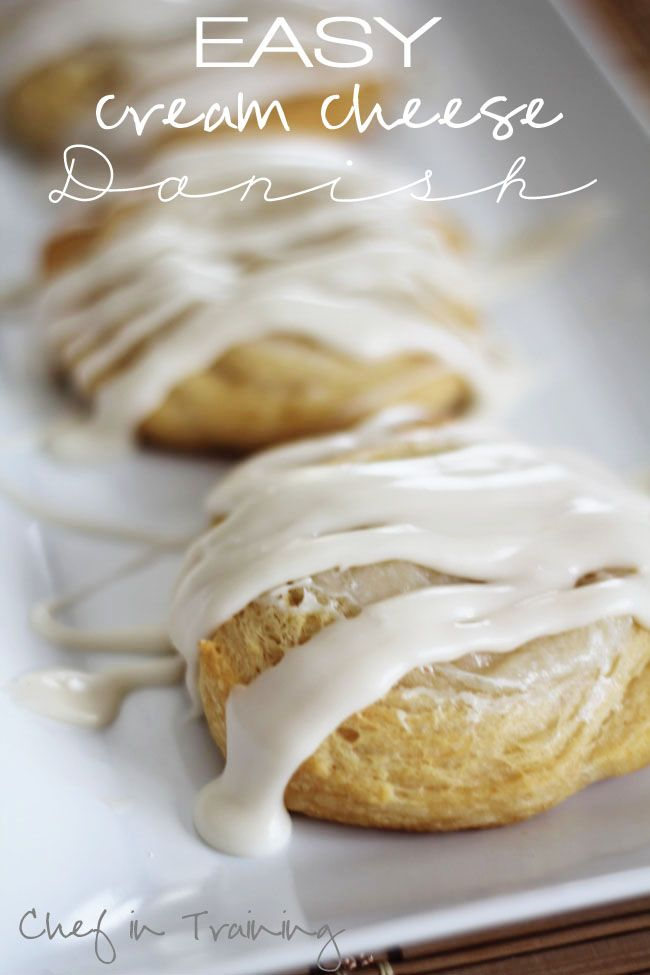 Easy Cream Cheese Danish!  Whips up super quick and is seriously delicious! #Danish #Dessert #Breakfast