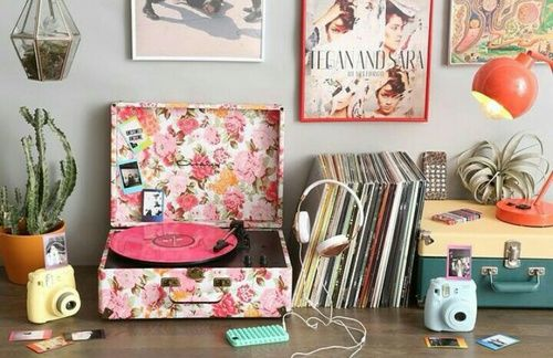 Imagem de vintage, room, and music