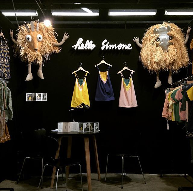 Hello Simone sets a dramatic backdrop in its trade show booth #tradeshow #kidsfashion