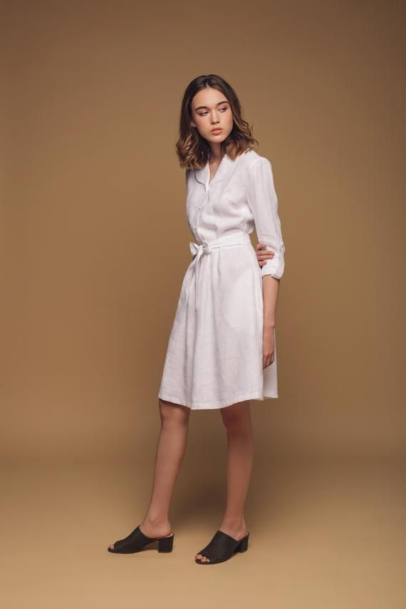 Linen dress. Wrap linen dress. Woman linen dress. Wedding dress. Handmade linen dress. Washed linen dress. Pure linen dress. Boho dress