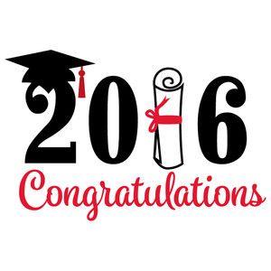 Silhouette Design Store - View Design #127376: congratulations graduation 2016