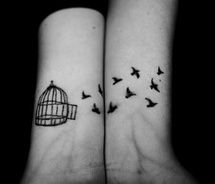 ...Tattoo Ideas, Wrist Tattoo, Birds Cages, Birds Tattoo, Friends Tattoo, Tattoo Pattern, A Tattoo, Tattoo Bird, Friendship Tattoo