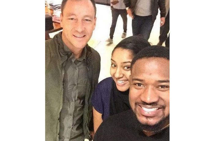 Actor, Mofe Duncan and wife meet with John Terry – See the excitement on their faces (Photo)
